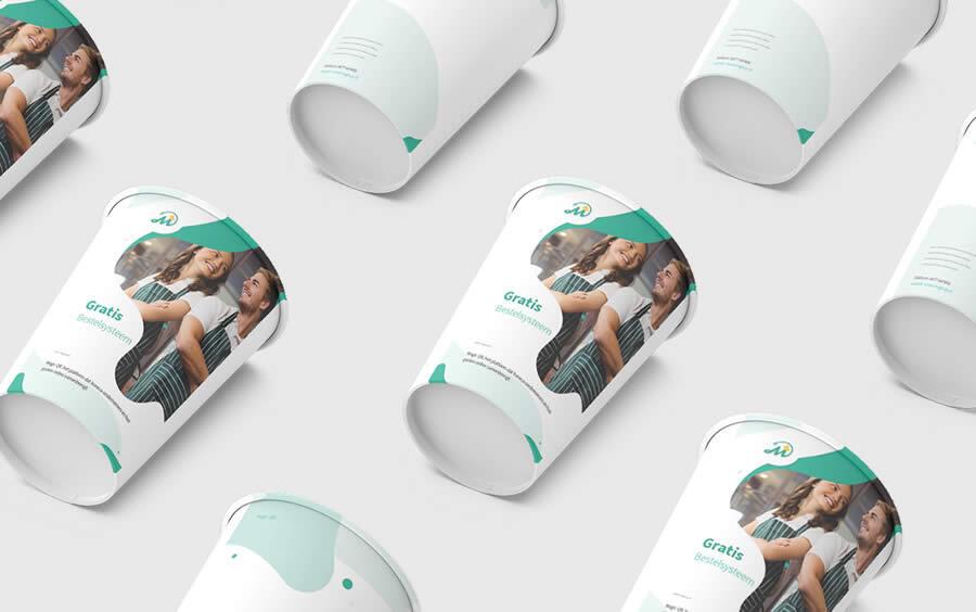 bedrijfslogo op verpakking